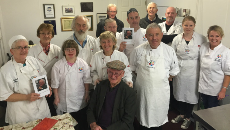 Peter Finn with Community Catering team