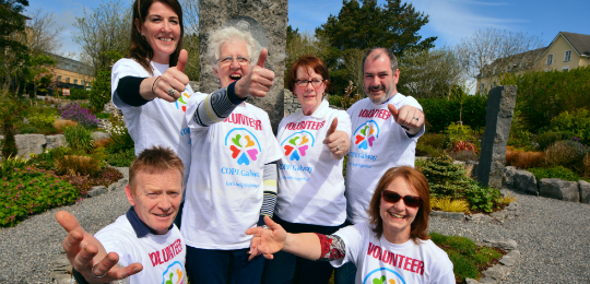 COPE Galway Volunteers - thumps up
