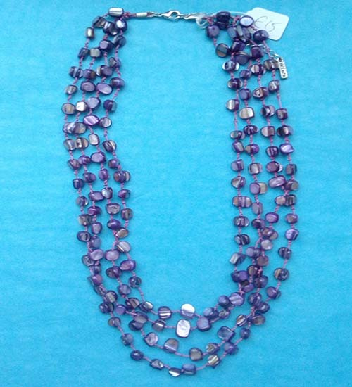 Purple Shell Necklace