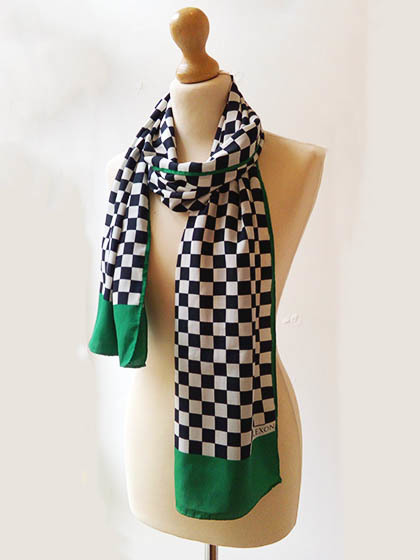 Check Green Scarf