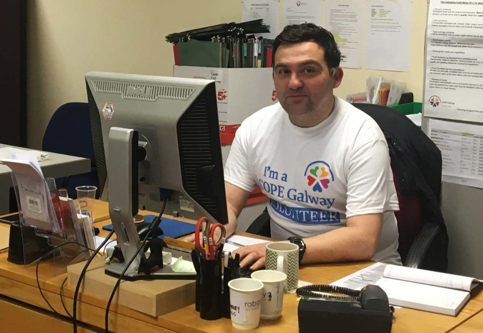 Senan Quain COPE Galway Volunteer