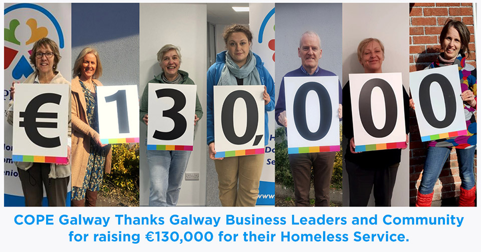 cope galway business sleep out 130,000 raised