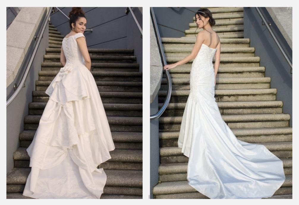 two cope wedding dresses from thriftify